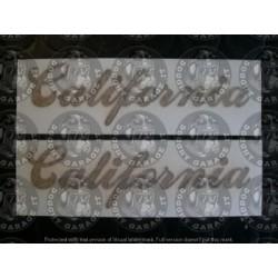 """CALCOMANIA """"CALIFORNIA"""" PER..."""